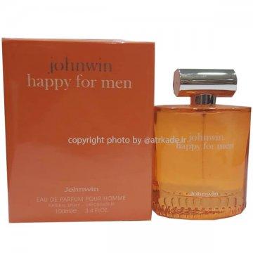جانوین هپی فور من ادو پرفیوم 100 میل Johnwin happy for men Eau De Parfum 100ml