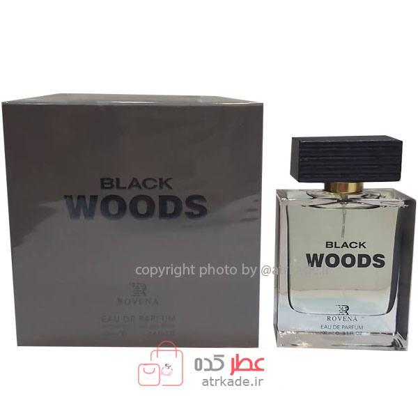 عطر ادکلن روونا بلک وود ادو پرفیوم حجم 100 میل Rovena black Woods Eau De Parfum 100ml